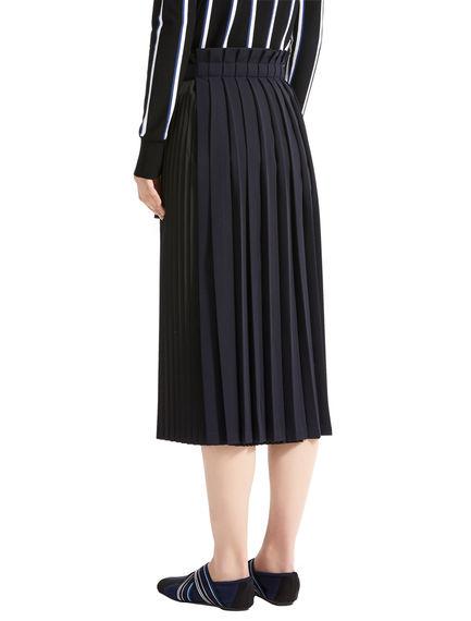Precision Pleat Double Skirt