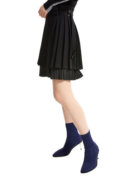 Layered Pleat Short Skirt Sportmax