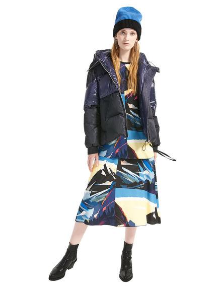 Postcard Print Viscose Fishtail Skirt