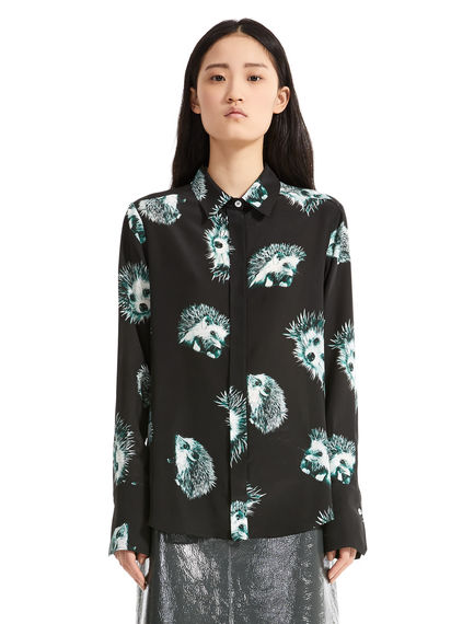 Hedgehog Print Silk Blouse Sportmax