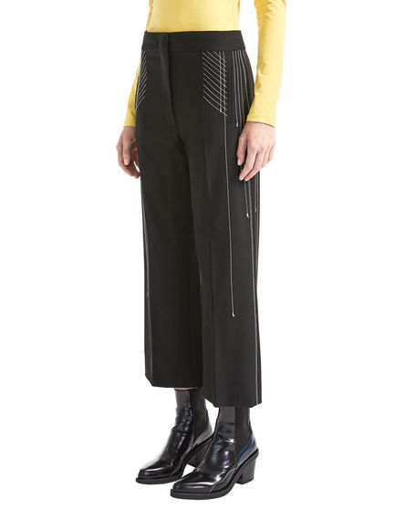 Pantalone cropped a vita bassa