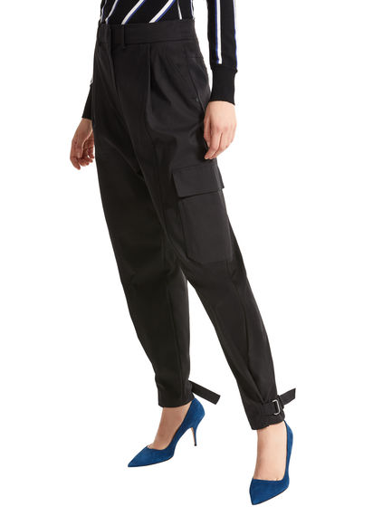 Sartorial Ankle Strap Cargo Trousers Sportmax
