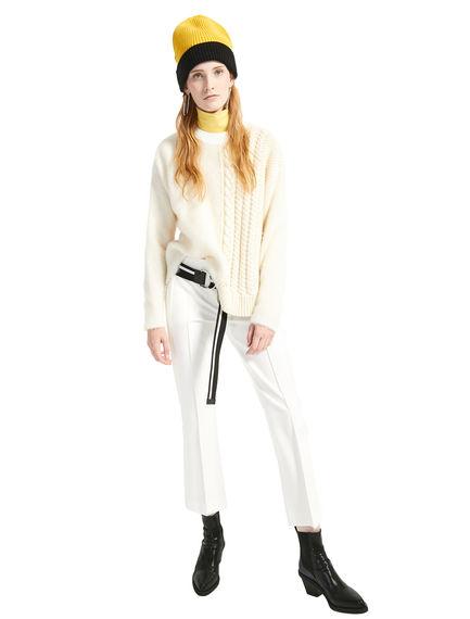 Side-stripe Cropped Gabardine Trousers