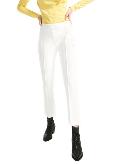 Side-stripe Cropped Gabardine Trousers Sportmax