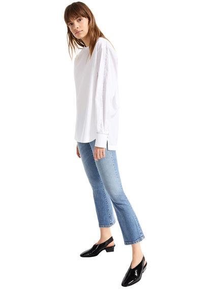 Mini-flare Sandblasted Jeans