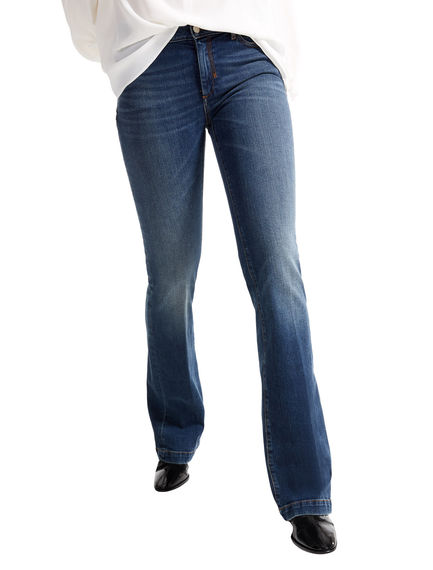 Washed Indigo Flared Jeans Sportmax