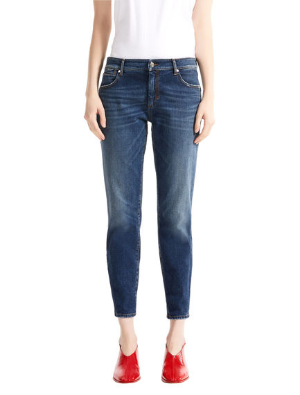 Cigarette Fit Cropped Jeans
