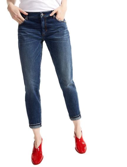 Cigarette Fit Cropped Jeans Sportmax