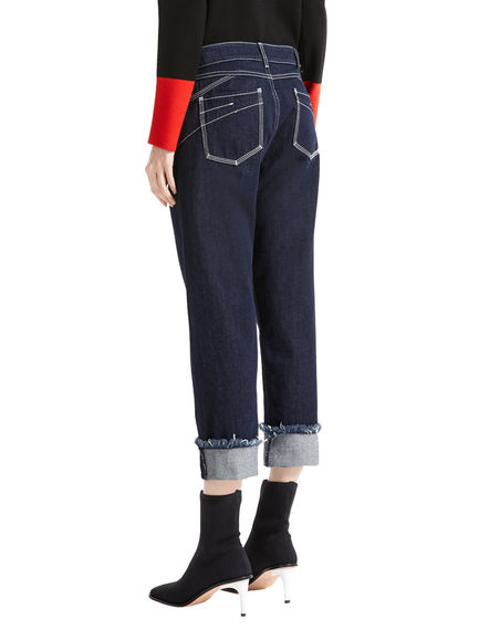 Frayed Turn-ups Boyfriend Jeans