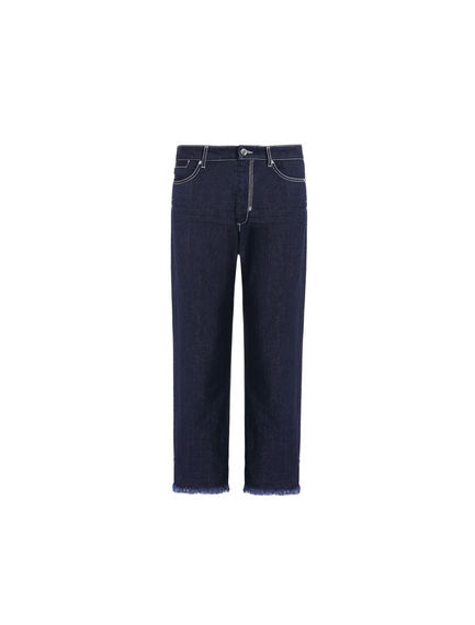 Frayed Turn-ups Boyfriend Jeans