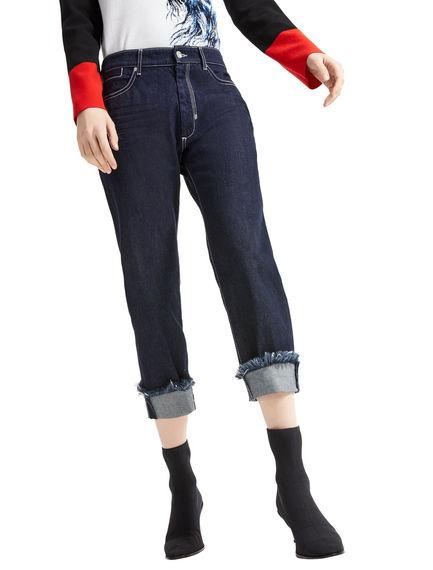 Jeans boyfriend con risvolti sfilacciati Sportmax