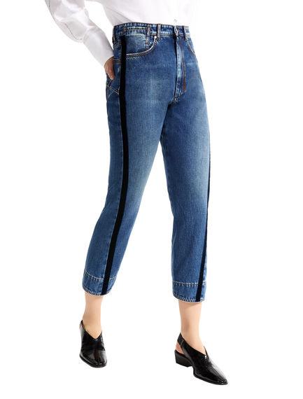 Velvet Stripe Cropped Boyfriend Jeans Sportmax