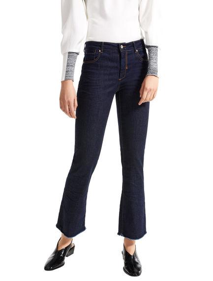 Mini-flare Fringed Hem Jeans Sportmax