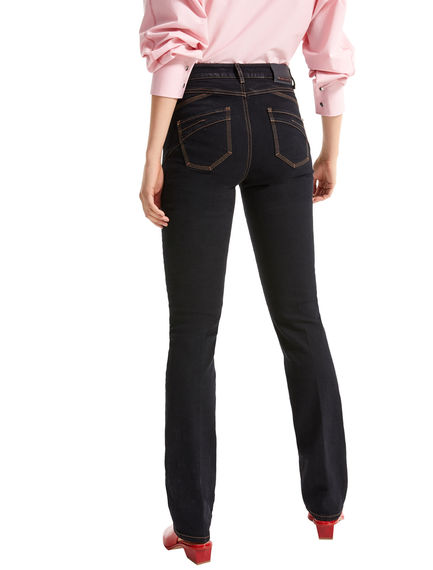 Black Straight Fit Jeans Sportmax