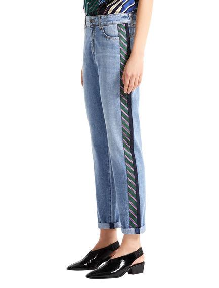 Regimental Stripe Boyfriend Jeans