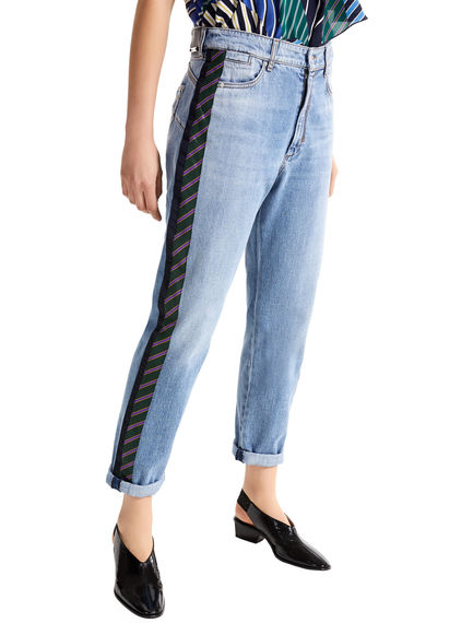Regimental Stripe Boyfriend Jeans