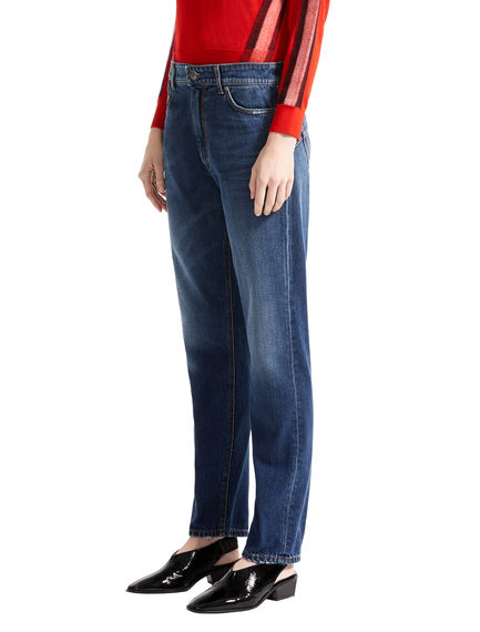 Straight Cut Indigo Jeans