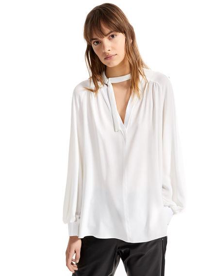 Camicia in seta con collo allacciato Sportmax