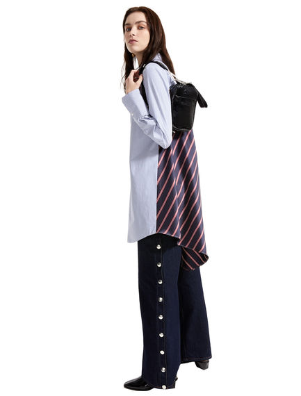 Pinstripe & Regimental Stripe Shirt Dress