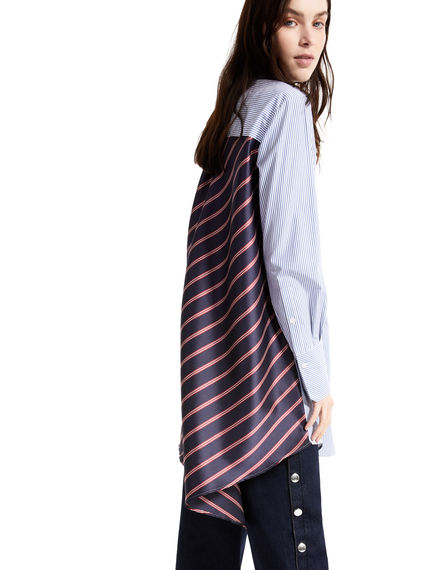 Pinstripe & Regimental Stripe Shirt Dress Sportmax