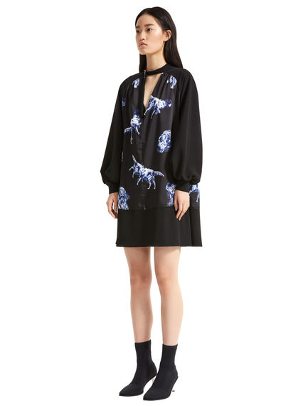 Dog Print Trapeze Dress Sportmax