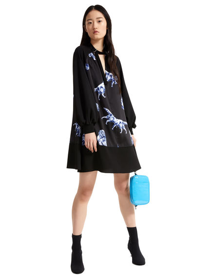 Dog Print Trapeze Dress