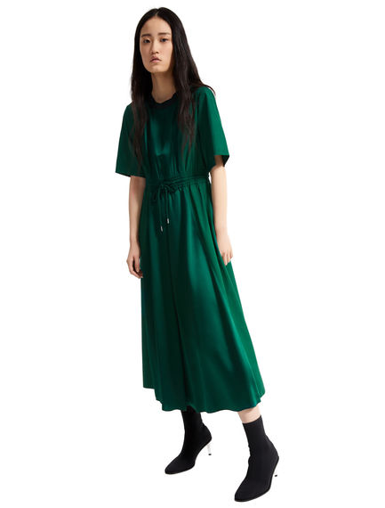 Poplin & Satin T-shirt Dress