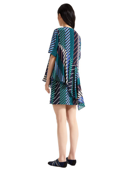 Regimental Stripe Silk Mini Dress
