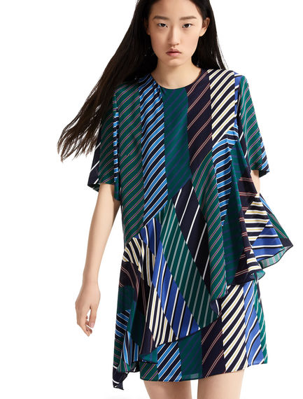 Regimental Stripe Silk Mini Dress Sportmax