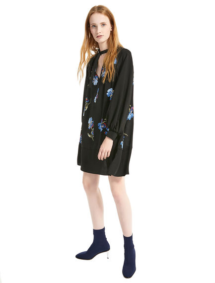Iris Print Trapeze Dress Sportmax