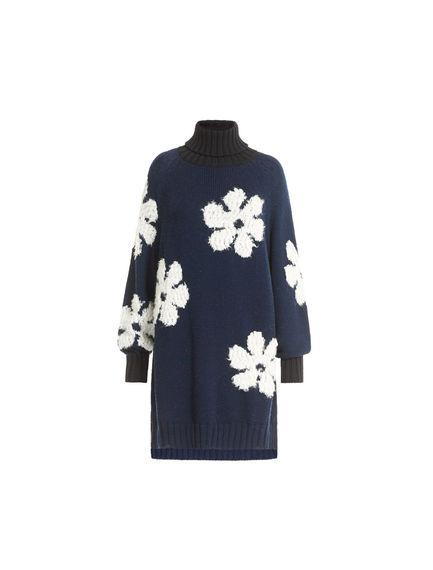 Alpaca & Wool Flower Mini Dress