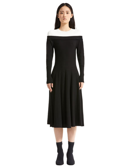 Bardot-effect Knit Dress
