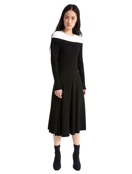 Abito in maglia off-the-shoulder Sportmax
