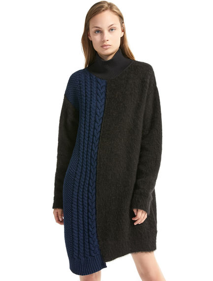 Asymmetric Alpaca & Wool Dress