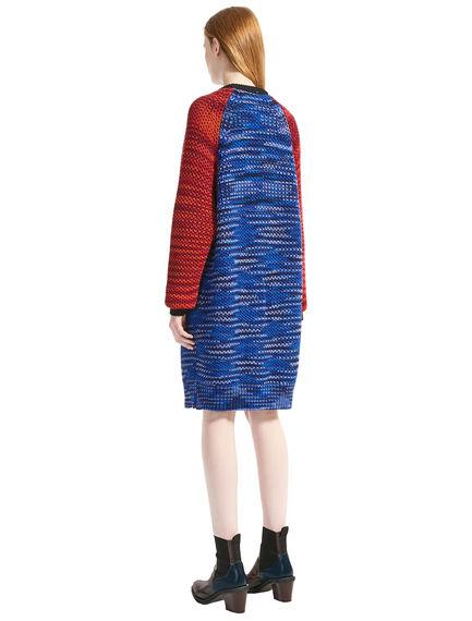 Printed Wool Sweater Dress