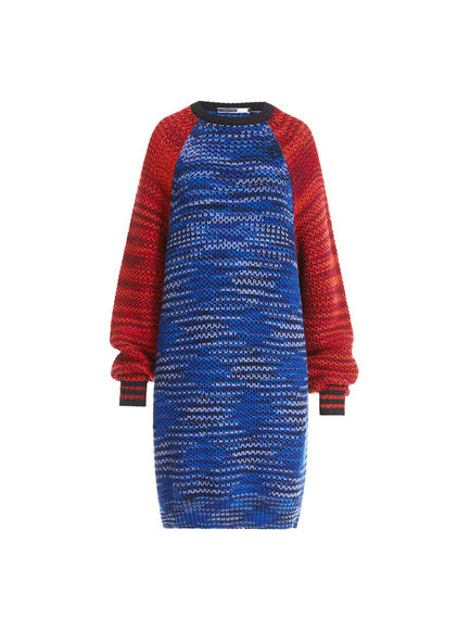 Printed Wool Sweater Dress