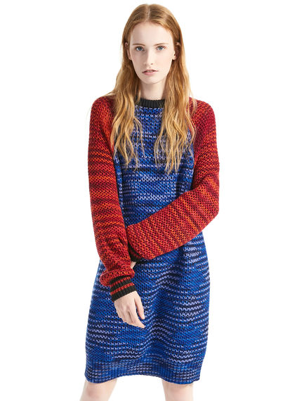 Printed Wool Sweater Dress Sportmax