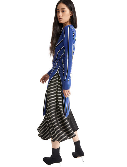 2-in-1 Asymmetric Stripe Dress Sportmax