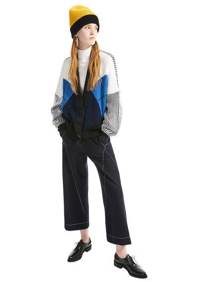 Argyll Ribbed Wool Cardigan