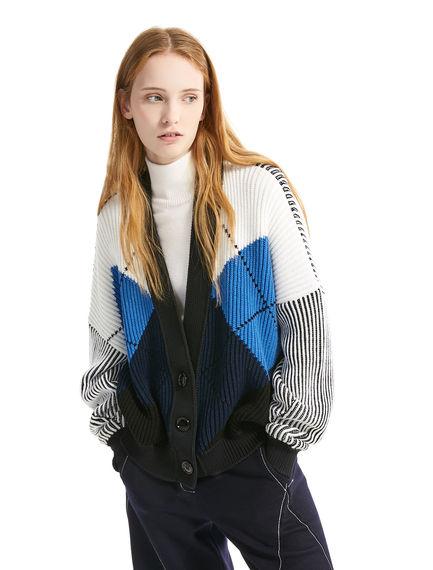 Argyll Ribbed Wool Cardigan Sportmax