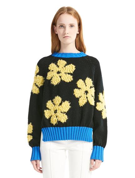 Alpaca & Wool Flower Sweater