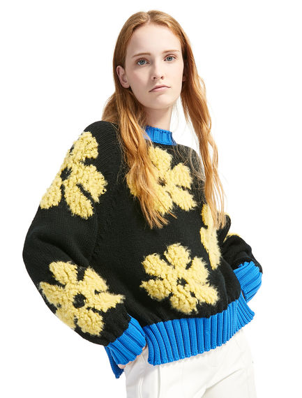 Alpaca & Wool Flower Sweater Sportmax