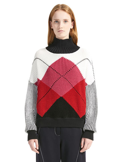 Argyll Ribbed Wool Sweater