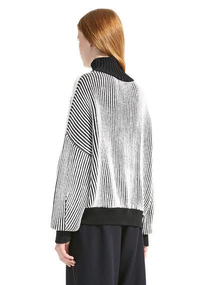 Argyll Ribbed Wool Sweater