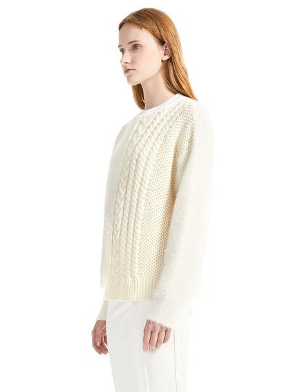 Contrast Knit Alpaca Sweater