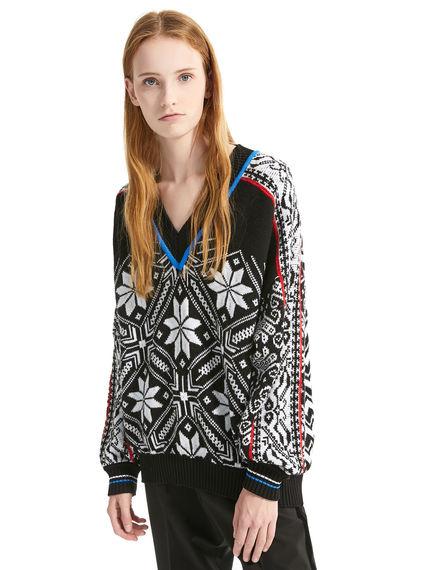 Maglione in lana con motivi nordici Sportmax