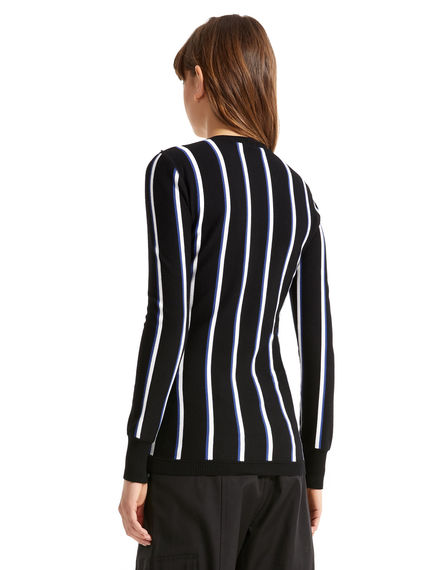 Regimental Stripe Viscose Sweater