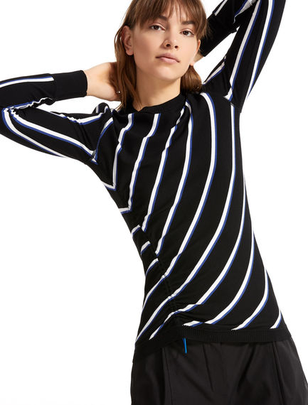 Regimental Stripe Viscose Sweater Sportmax
