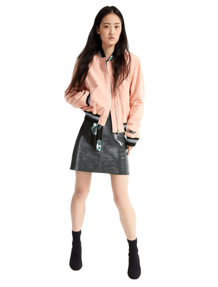 Naplak Leather Mini Skirt
