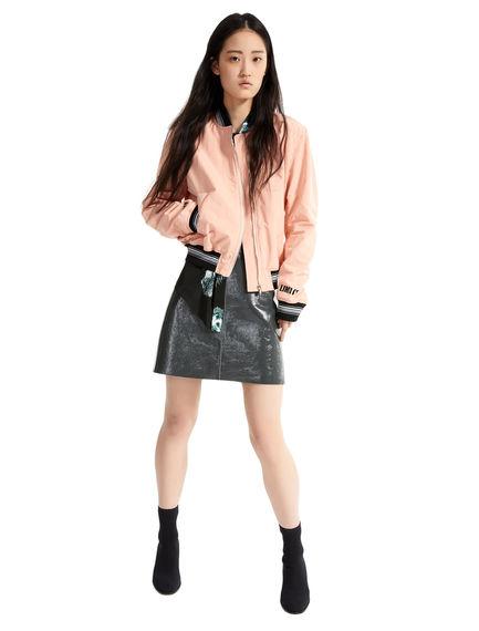 Naplak Leather Mini Skirt